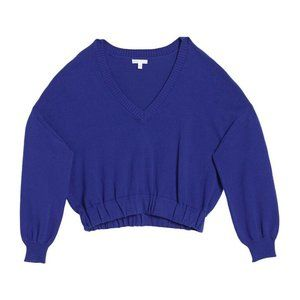 Abound V-Neck Knit Sweater In Blue Clematis NWT